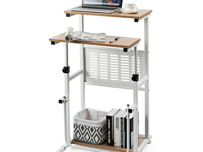 overstock adjustable small space standing desk