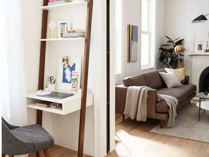west elm small space ladder desk