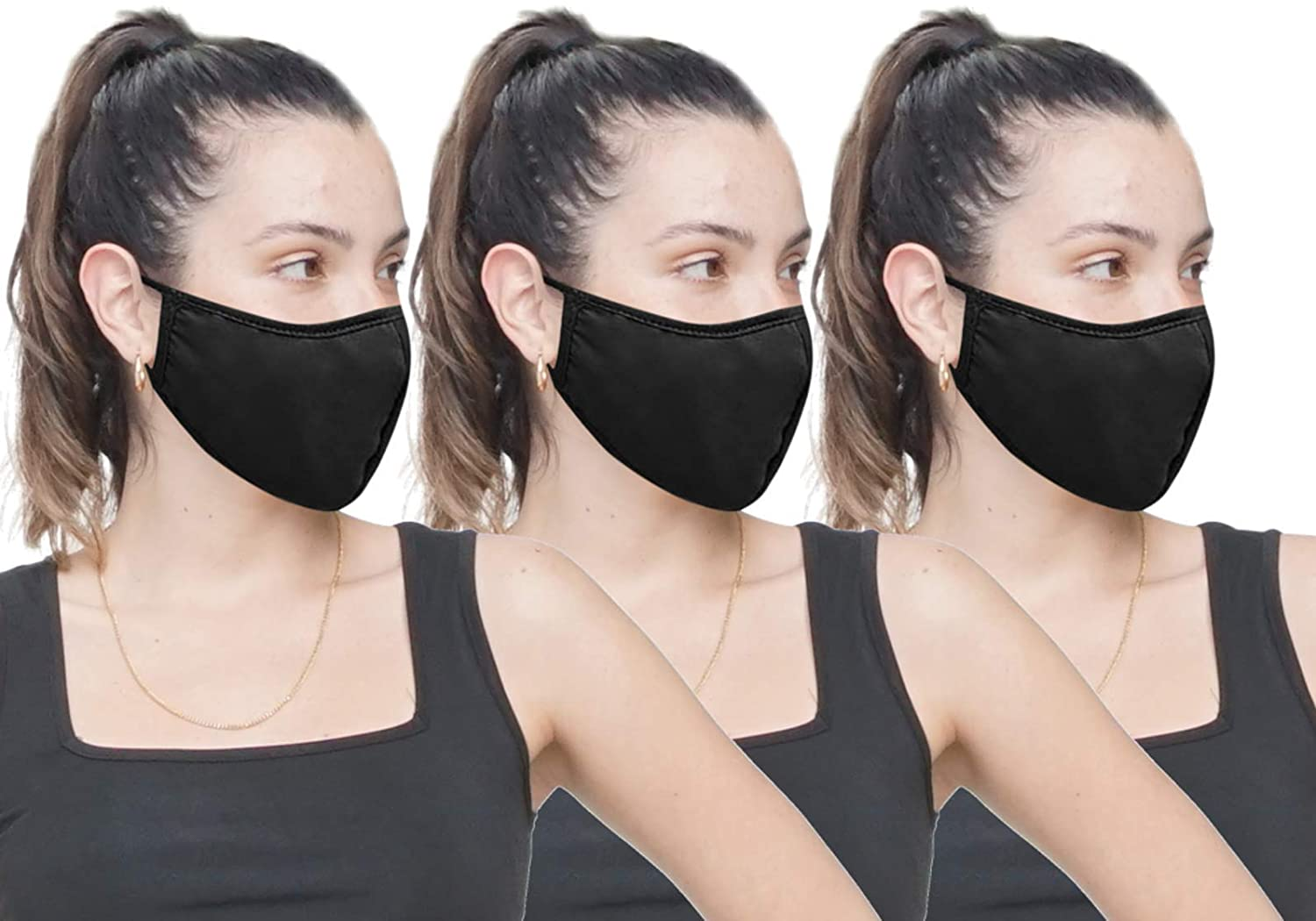 Simlu Washable Reusable Double Fabric Layer Face Masks
