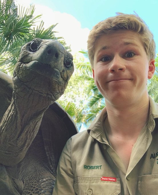 Steve Irwin's Son Shared A Selfie With His 'isolation Buddy'