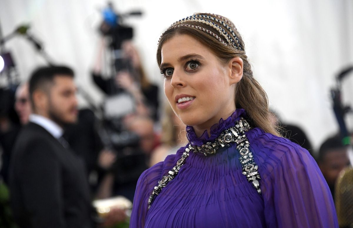 Princess Beatrice wearing a purple gown at the Met Gala