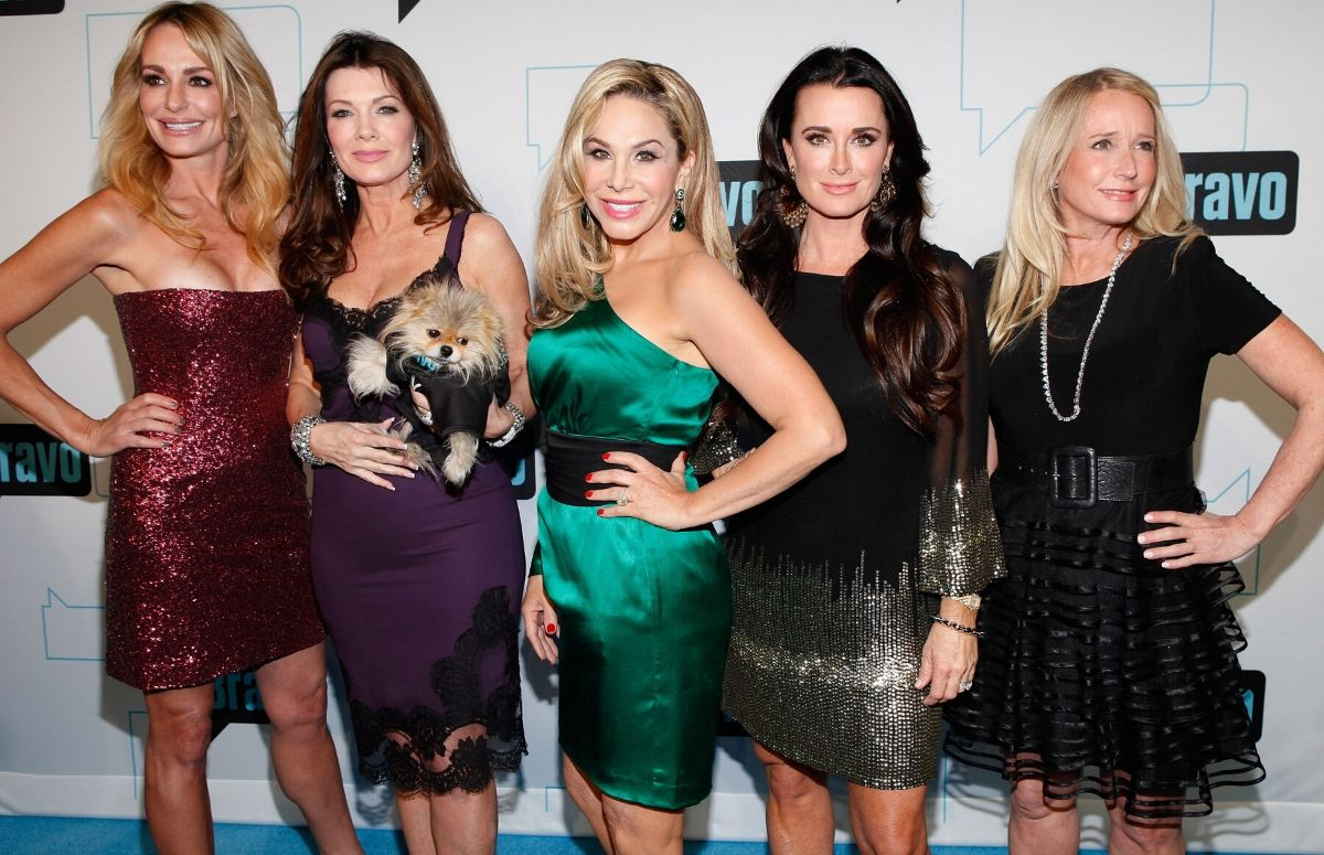 Five cast members from Real Housewives of Beverly Hills on the red carpet