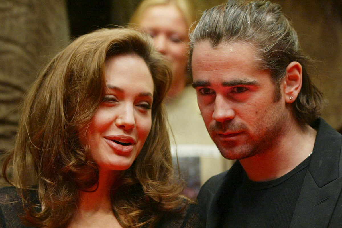 Angelina Jolie and Colin Farrell together at the Alexander premiere in 2005
