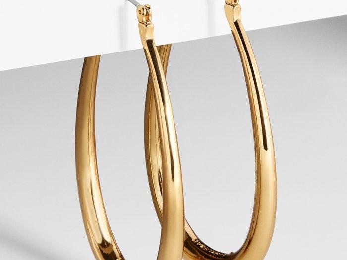 BaubleBar hoop earrings Hilary Duff