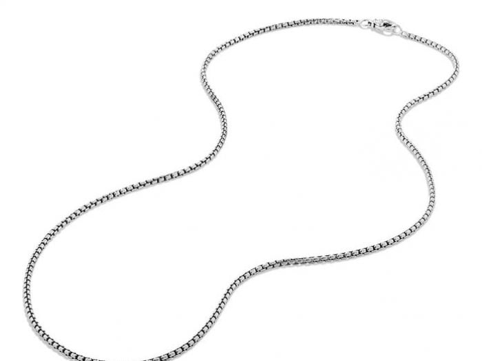 Connell Normal People chain necklace, David Yurman box necklace