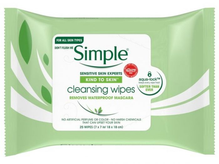 Hannah Brown skincare routine simple cleansing wipes