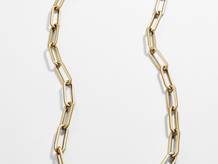 BaubleBar chain link necklace Hilary Duff