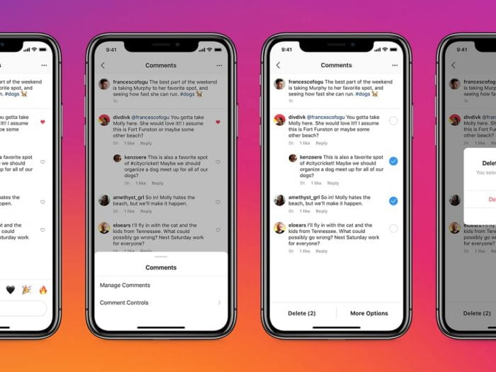 instagram manage and delete comment feature
