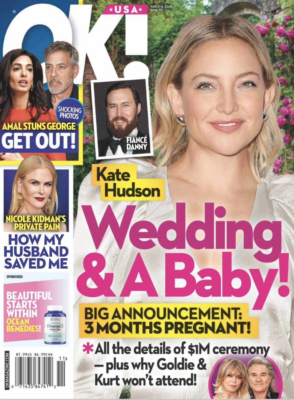 Kate Hudson on the cover of OK! Magazine