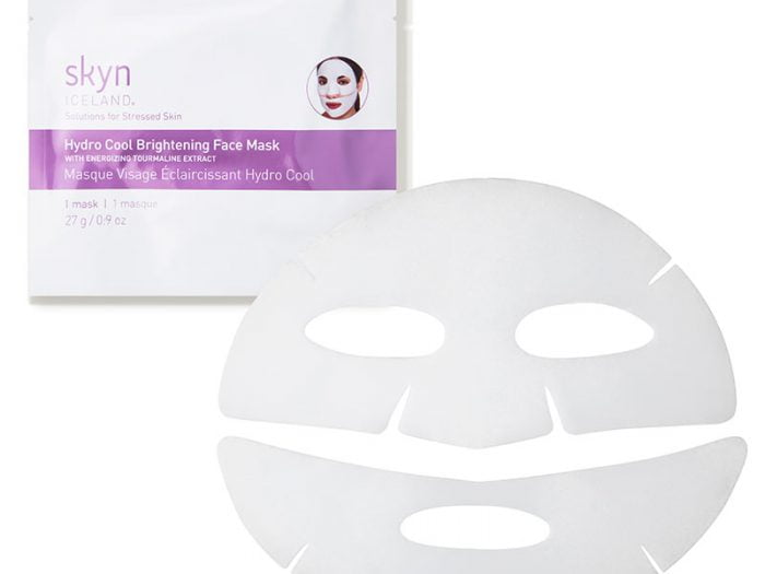 skyn ICELAND hydro cool brightening face mask Hannah Brown skincare routine