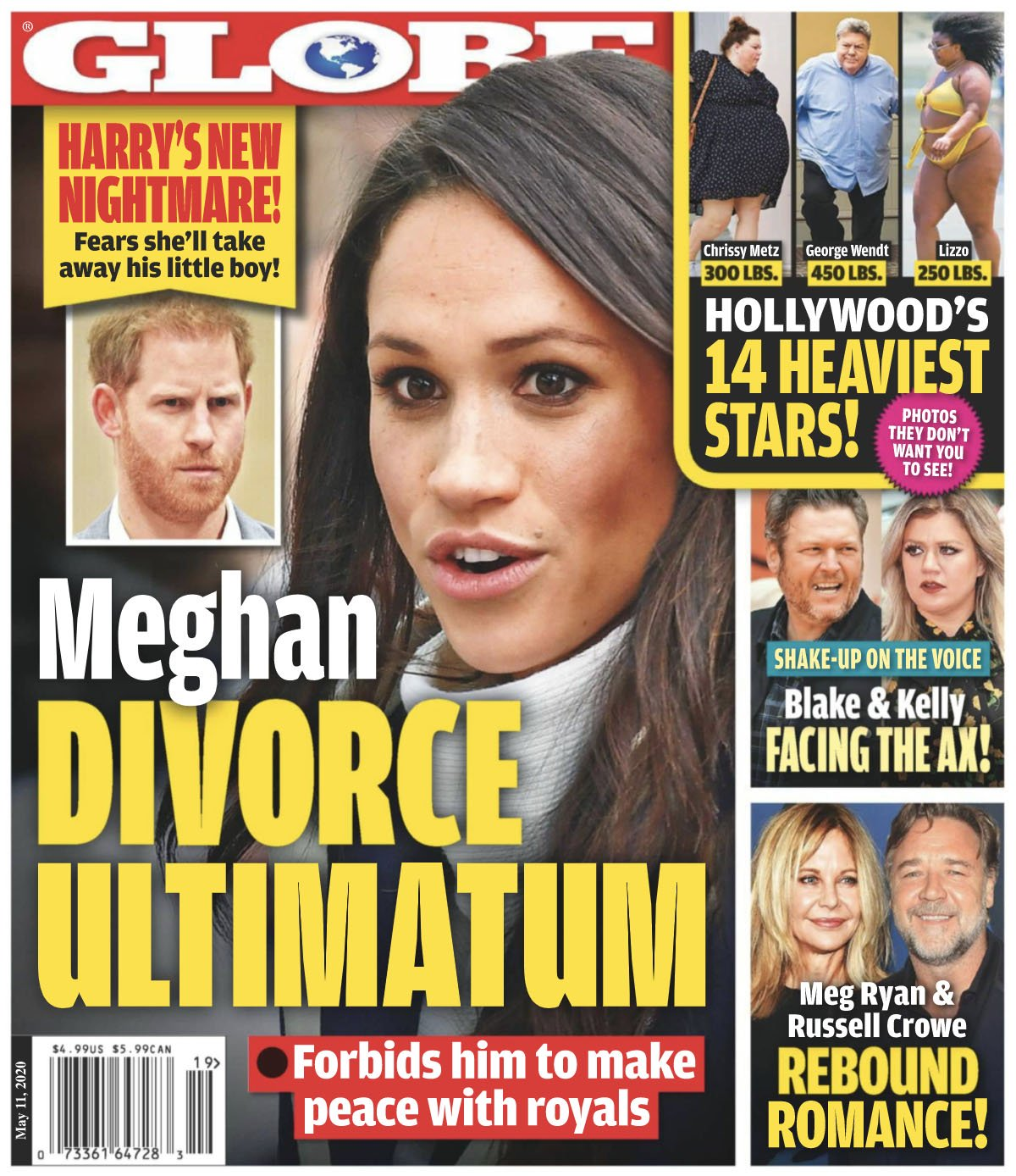 Meghan Markle on the cover of the Globe.