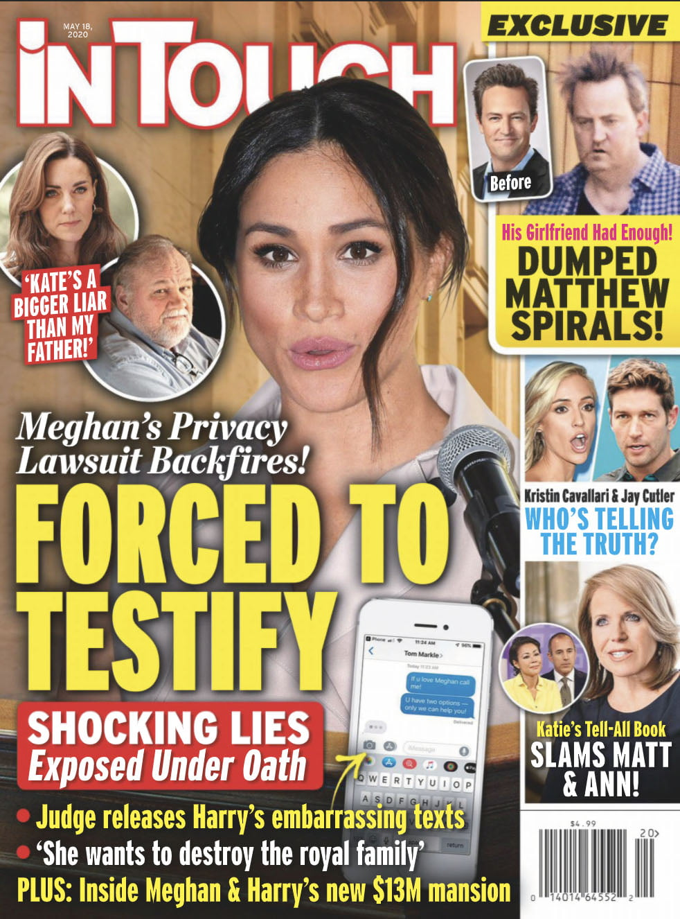 Meghan Markle on the cover of In Touch, dated May 18, 2020
