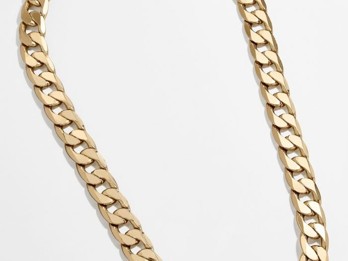 BaubleBar michel curb chain necklace Hilary Duff