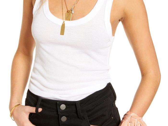 Hilary Duff white tank top