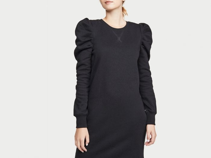 adele black puff sleeve dress look a like