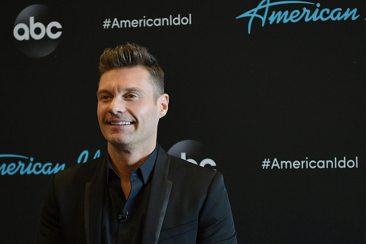 Ryan Seacrest at a taping of American Idol in 2019