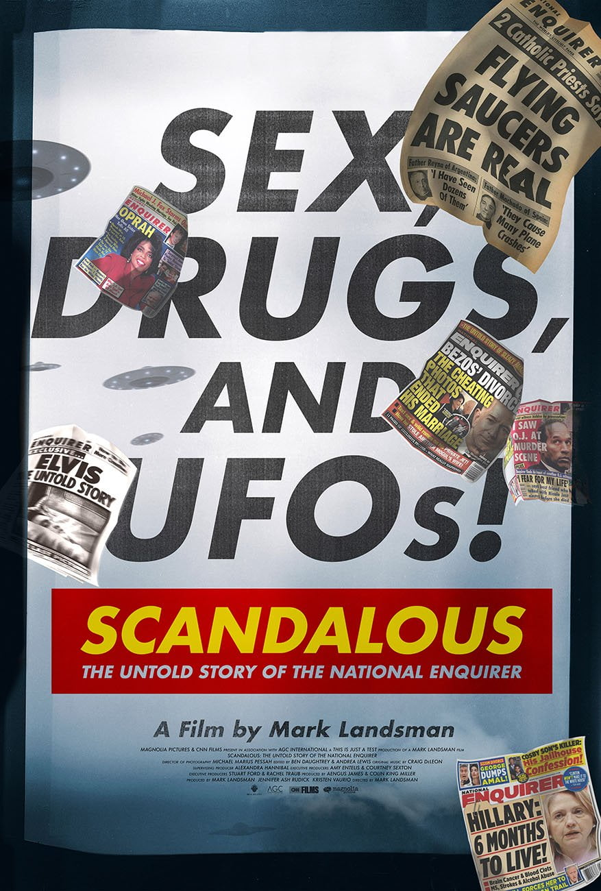 Scandalous: The Untold Story Of The National Enquirer CNN documentary poster.