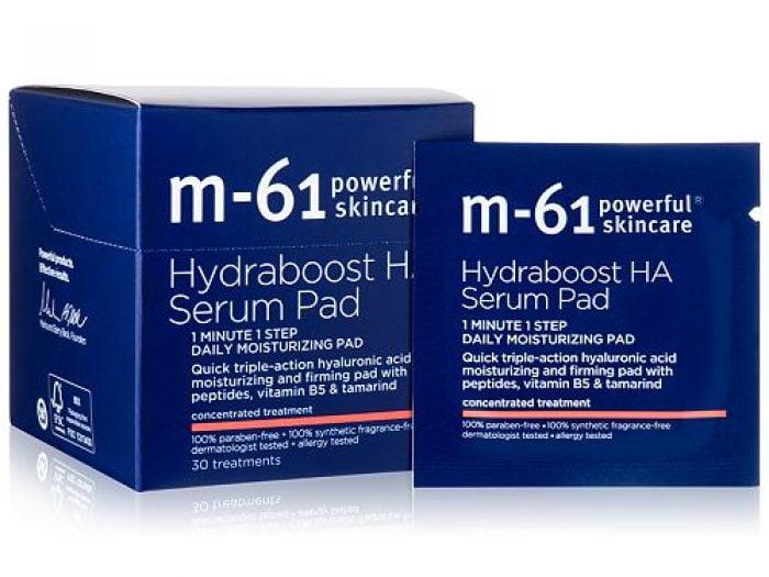 Hannah Brown skincare routine m-61 by Bluemercury hydra boost HA Serum pad
