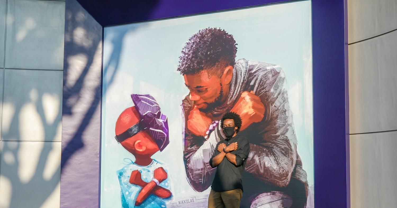 Disneyland Unveiled A Mural Honoring Chadwick Boseman's 'Black Panther' Legacy