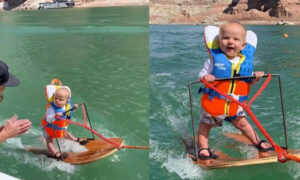Parents Taught Their 6-month-old To Water Ski And Faced Backlash After Video Went Viral