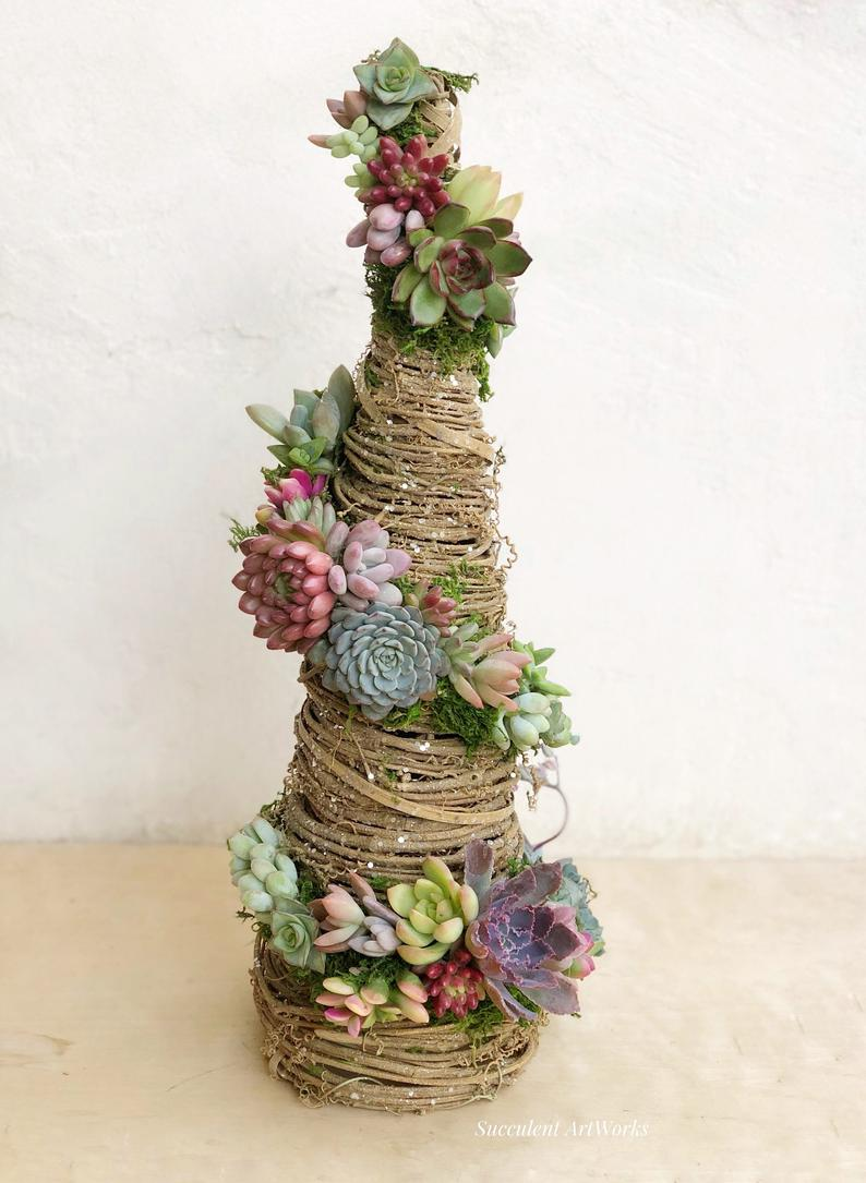 Succulent Christmas Trees Are The Stunning New Trend You'll Want To Try This Holiday Season