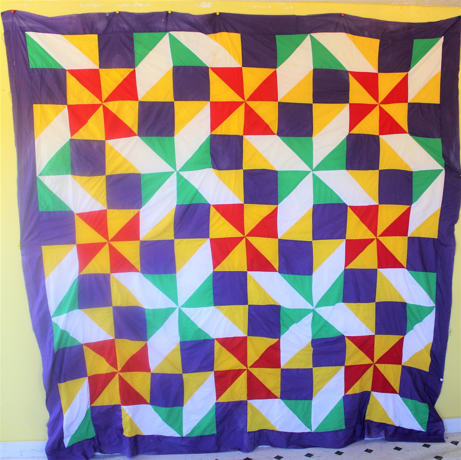 Gee's Bend quilt from Lunky's Baby Etsy shop